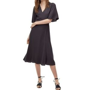 Wilfred (Aritzia) Ailie Dress in Kinetic-dark grey